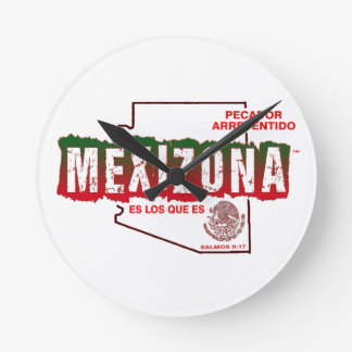 MEXIZONA ROUND CLOCK