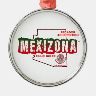 MEXIZONA Silver-Colored ROUND ORNAMENT