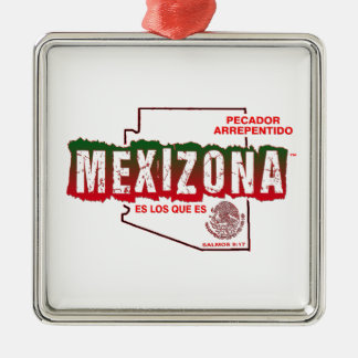 MEXIZONA Silver-Colored SQUARE ORNAMENT
