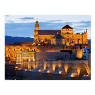 Mezquita Cathedral at Dusk in Cordoba Postcard