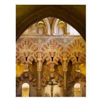 Mezquita Interior Islamic Architecture Postcard