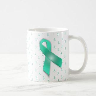 MG Awareness Ribbons  Coffee Mug Teal