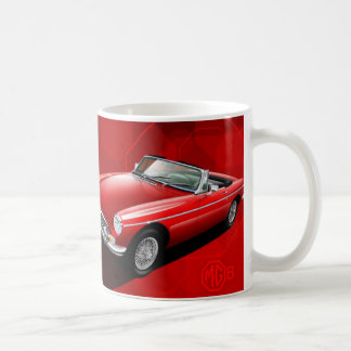 MG B Illustrated Mug