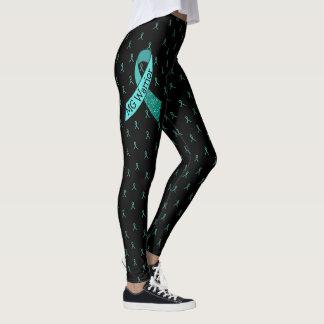 MG Black and Teal Ribbons Leggings