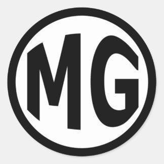 MG CLASSIC ROUND STICKER