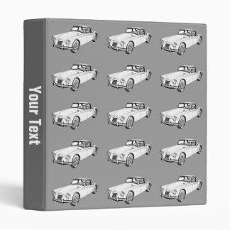 MG Convertible Sports Car Illustration Vinyl Binder