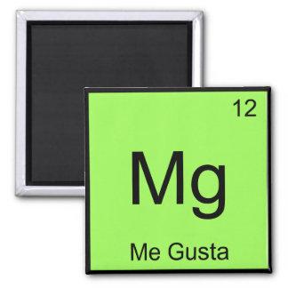 Mg - Me Gusta Chemistry Element Symbol Meme Tee Square Magnet