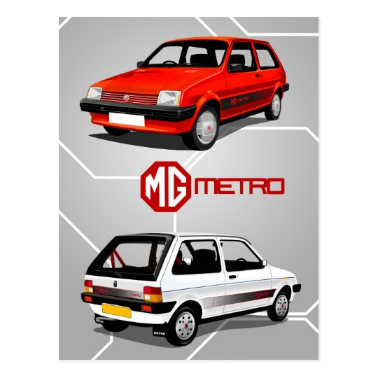 MG Metro Postcard