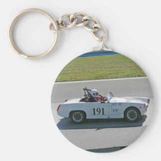 MG Race Car Basic Round Button Keychain