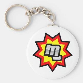 MG Symbol Basic Round Button Keychain