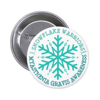 MG Warrior Awareness Ribbon Button Snowflake