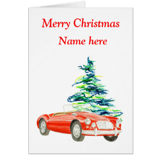 MGA Christmas card, customisable Card