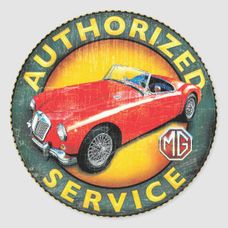 MGA roadster Classic Round Sticker