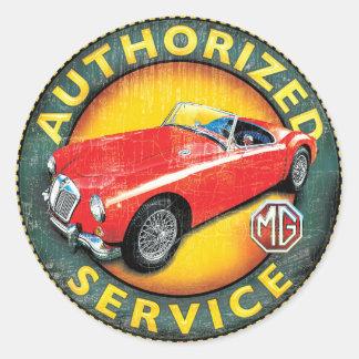 MGA roadster Round Sticker