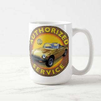 MGb rubber bumper service sign Coffee Mug