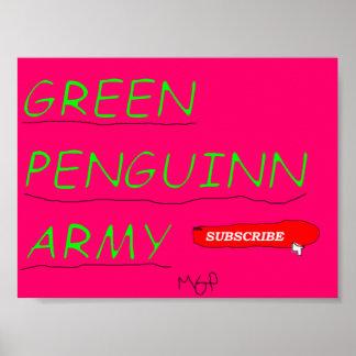 MGP GREEN PENGUINN ARMY POSTER