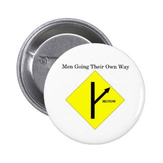 MGTOW Logo Button-Medium Size-White Background