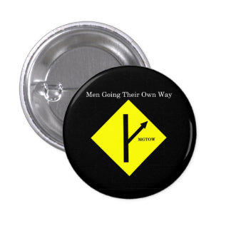 MGTOW Logo Button-Small-Black Background 1 Inch Round Button
