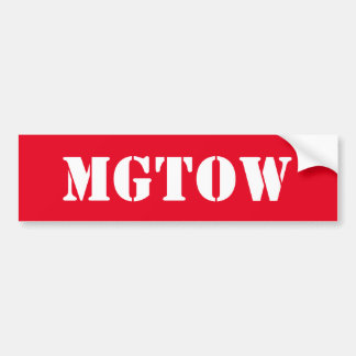 MGTOW - Men Going Their Own Way Bumper Sticker
