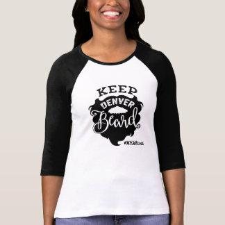 "MHAE ""Keep Denver Beard"" Raglan T - Women's T-Shirt"