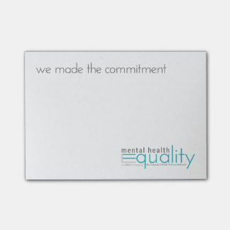 MHEW Office: We made the commitment Post-It Post-it Notes