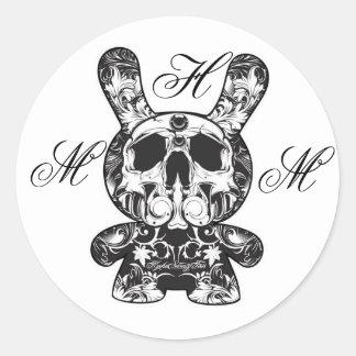 MHM ornate skeleton bunny sticker - Customized