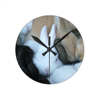 MHRR baby bunny rabbit bunnies clock