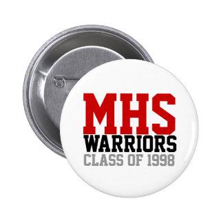 MHS Athletic Print Button