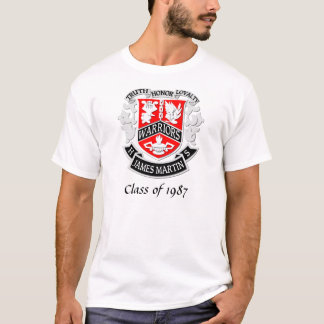 MHS Coat of Arms Grad Shirt White