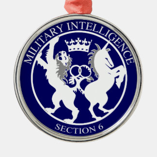 MI6 Logo Button Metal Ornament