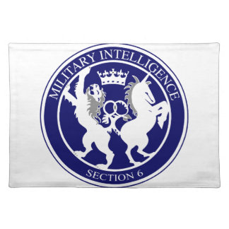 MI6 Logo Button Placemat