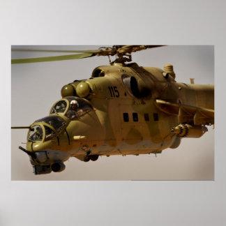 Mi-35 Hind helicopter gatling gun Print