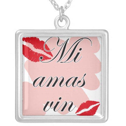 Mi amas vin - Esparanto - I love you Personalized Necklace