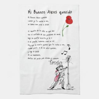 Mi Buenos Aires Querido Tango Kitchen Towel
