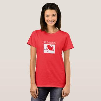 Mi Corazon Valentine's Day Women's Holiday Gift T-Shirt
