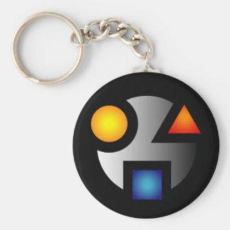 MI cryptic logo keychain