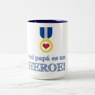 Mi Papá es un Héroe! Two-Tone Coffee Mug