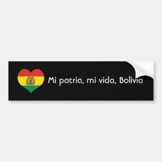 Mi patria, mi vida, Bolivia Bumper Sticker