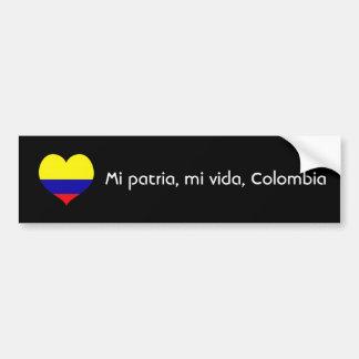 Mi patria, mi vida, Colombia Bumper Sticker