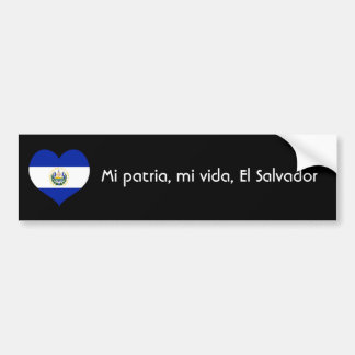 Mi patria, mi vida, El Salvador Bumper Sticker
