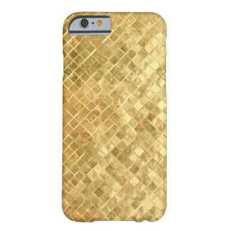 Mi texture vintage d'or d'années '50 coque iPhone 6 barely there