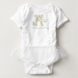 Mia baby girls M name and meaning custom clothes Baby Bodysuit