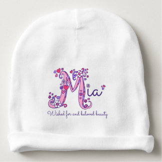 Mia girls name & meaning baby hat baby beanie