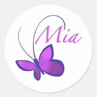 Mia Round Sticker
