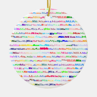 Mia Text Design II Ornament