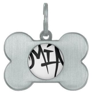 mia-typography pet name tags