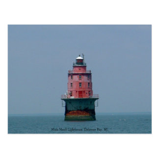 Miah Maull Lighthouse, Delaware Bay, NJ. Postcard