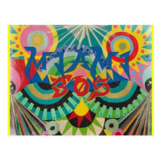 Miami 305 Graffiti Postcard
