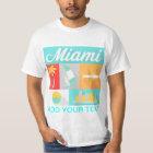 miami american city tshirt various colours mens
