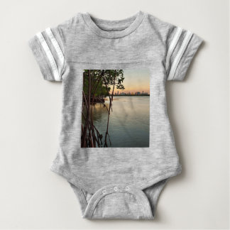 Miami and Mangroves at Sunset Baby Bodysuit